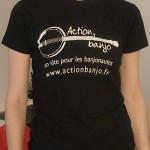 T-shirt action banjo femme